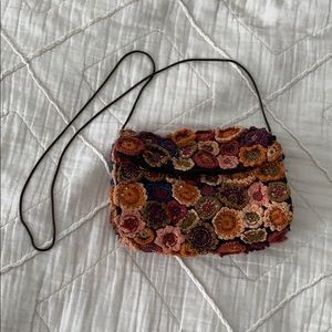 Floral cross body purse